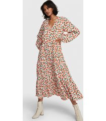 alix the label 2103342956 ladies woven fresh flower maxi dress