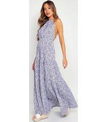 tie dye backless floor sweeping maxi dress