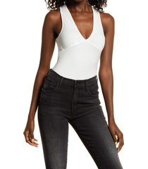 women's allsaints lodi rib bodysuit, size 00 us - white