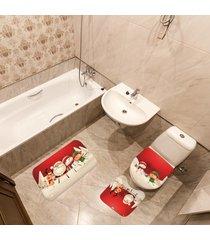 jogo de banheiro natal papai noel vermelho ãšnico - vermelho - dafiti