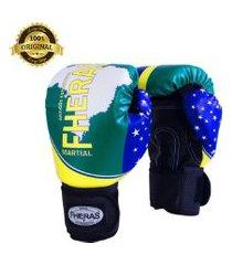 luva boxe muay thai fheras new top brasil 14 oz .