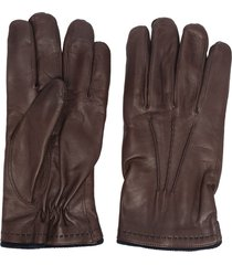 lady anne leather glove - brown