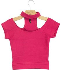blusa lucy in the sky gola rosa