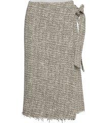 rodebjer alla knälång kjol grå rodebjer