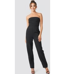 na-kd party bandeau jumpsuit - black