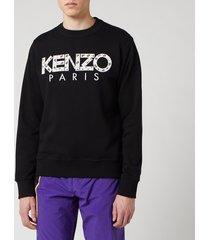 kenzo men's classic paris sweatshirt - black - xl