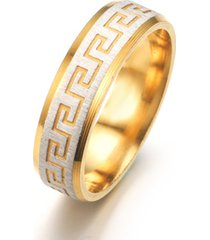 anillo de acero inoxidable patrón retro bohemio para hombre