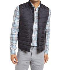 men's stone rose water repellent puffer vest, size 6 - blue