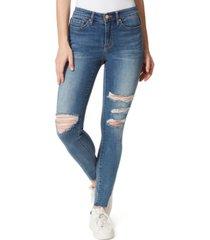 frayed raw-hem skinny jeans