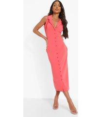midaxi blouse jurk, coral