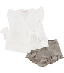 il gufo t-shirt and shorts suit