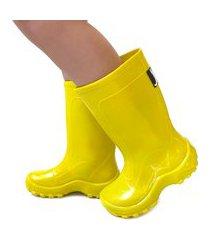 galocha bota infantil amarela jokenpô impermeável amarelo