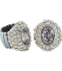 anel armazem rr bijoux com cristais creavejados feminino - feminino