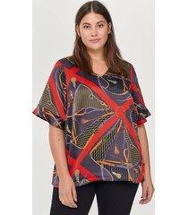 blus xscarf s/s blouse