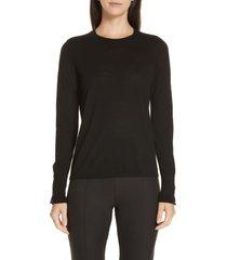 women's boss frankie cuff detail wool sweater, size xx-large - black (nordstrom exclusive)