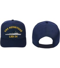 uss hermitage lsd-34   direct embroidered cap..u.s. navy..new