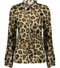 13741-20 blouse leopard print