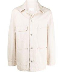 maison margiela multi-pocket buttoned jacket - neutrals