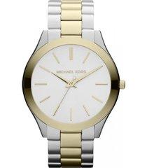 michael kors  women's watch mk3198 - silver gold