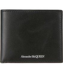 alexander mcqueen classic logo billfold wallet