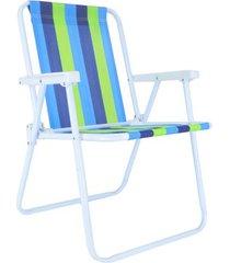 cadeira de praia alta mor aço cores diversas - item sortido unica