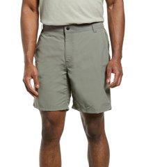 filson elwha water repellent river shorts, size medium in castor gray at nordstrom