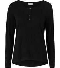topp vinoel button l/s t-shirt fav