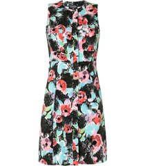 chanel pre-owned floral straight-fit dress - multicolour