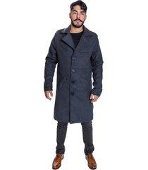 sobretudo casaco carbella lã batida cinza - kanui