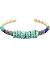 kendra scott multicolor paracord-wrapped cuff bracelet