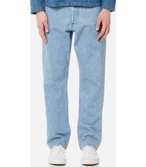 a.p.c. men's standard jeans - selvedge indigo delave - w36 - blue