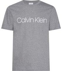 cotton front logo t-shirt s/s gris calvin klein