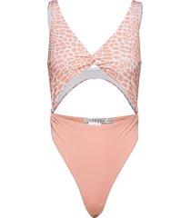 twist front swimsuit baddräkt badkläder rosa ivyrevel