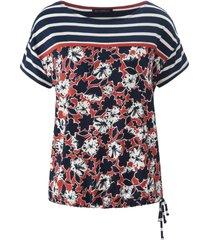 shirt met ronde hals en korte kapmouwtjes van betty barclay multicolour