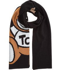 moschino teddy bear scarf