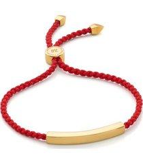 gold linear friendship bracelet