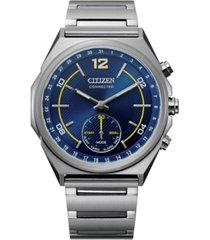 citizen men's connected stainless steel bracelet watch 42mm