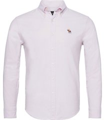 anf mens wovens skjorta casual rosa abercrombie & fitch