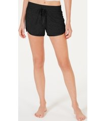 alfani ultra soft satin-trim pajama shorts, created for macy's