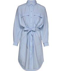 staliagz oz shirt dress knälång klänning blå gestuz