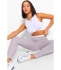 contrast waistband ribbed jersey legging, ice