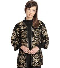 abrigos kimono gold negro bunnys
