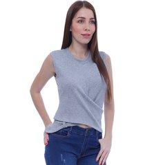 mayo blusa manga sisa cuello redondo silueta semi ajustado