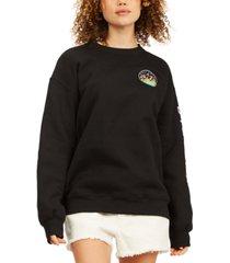 billabong women's cali bear fleece sweatshirt