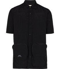 a-cold-wall* multi-pocket short-sleeve shirt - black