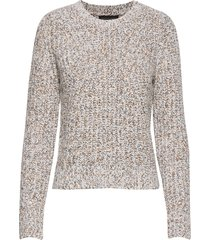 chunky pointelle cropped sweater gebreide trui beige banana republic