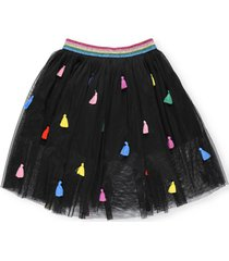 stella mccartney tulle skirt with tassels