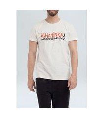 t-shirt stone vintage ashaninka guard mc areia/p