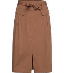 skirt short woven fa knälång kjol brun gerry weber