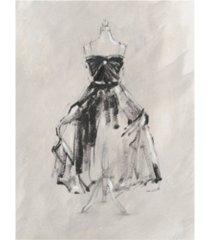 "ethan harper black evening gown i canvas art - 36.5"" x 48"""